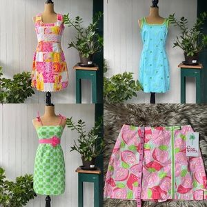 ❤️EUC❤️BUNDLE LILLY PULITZER DRESSES & SKIRT SZ S
